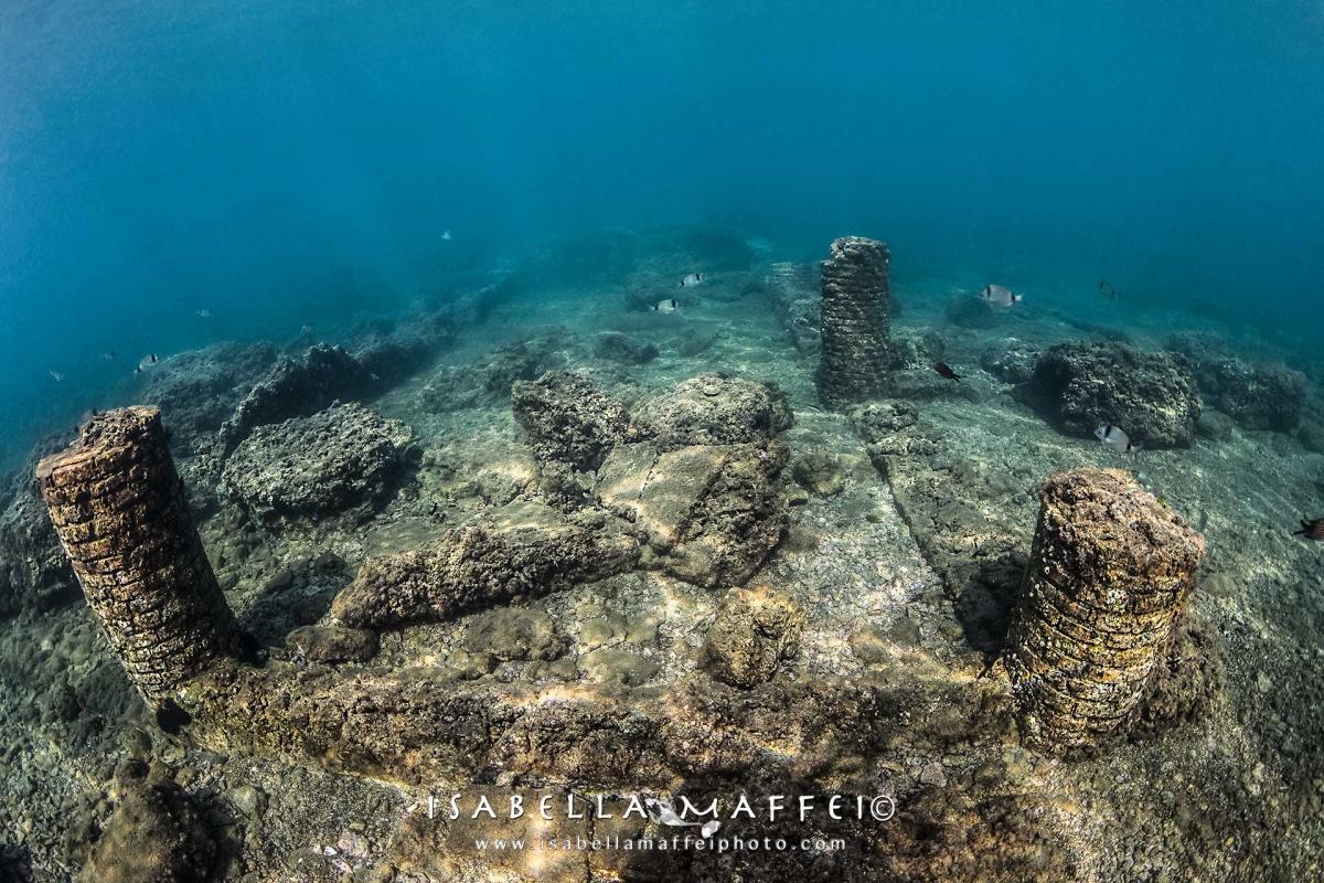 "<img src="" Baia city "" alt="" Baia city submerged portus julius isabella maffei underwater photographer "">"