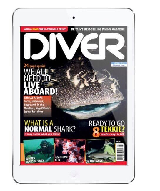 Diver UK , August 2017 Cover