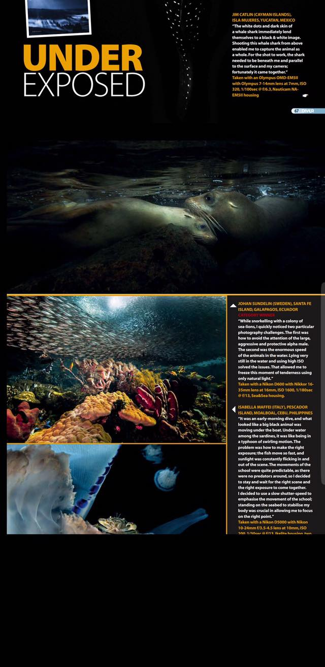 Underexposed featured on Diver UK