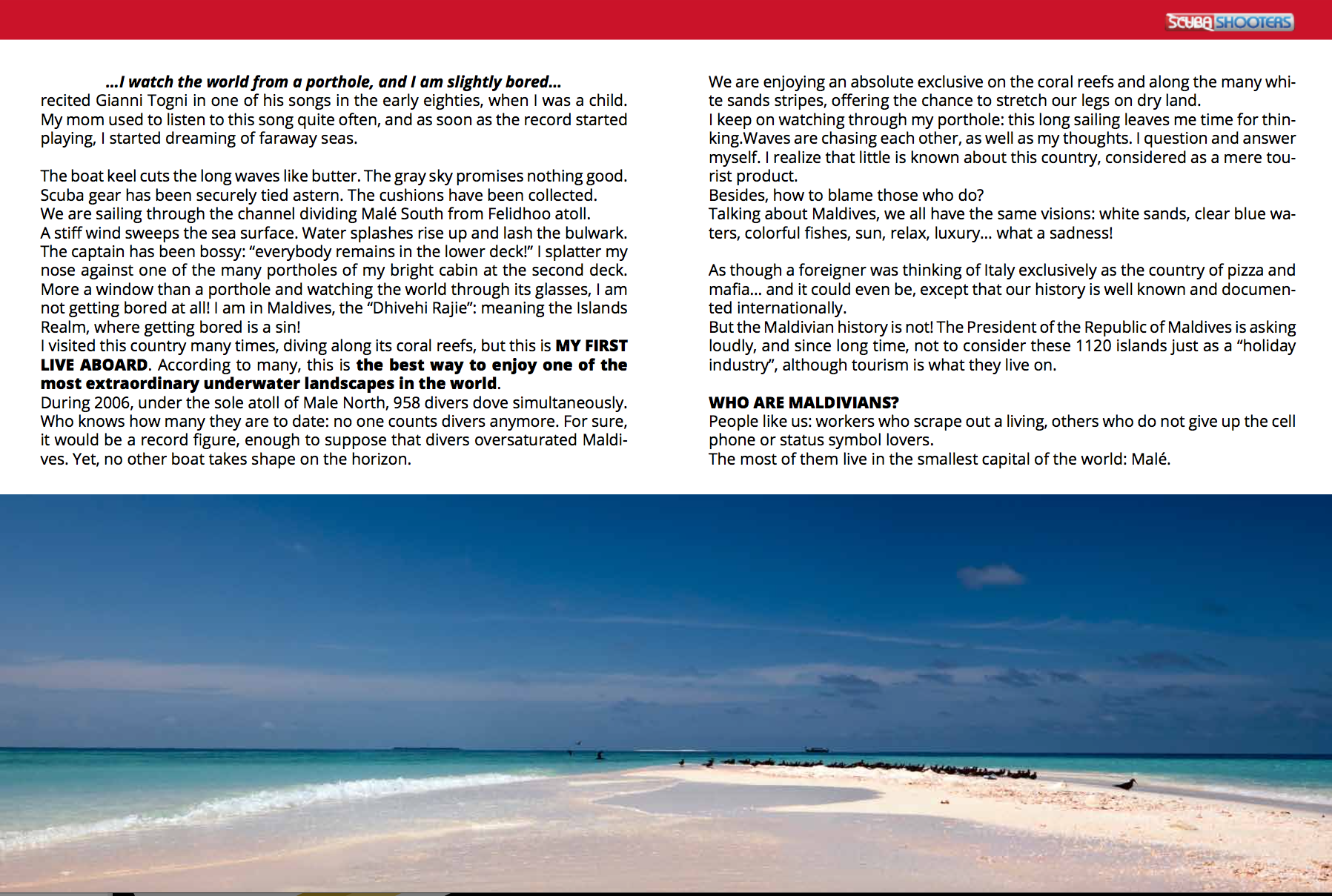 Maldives, Dhivehi Rajee, pictures and words by Isabella Maffei