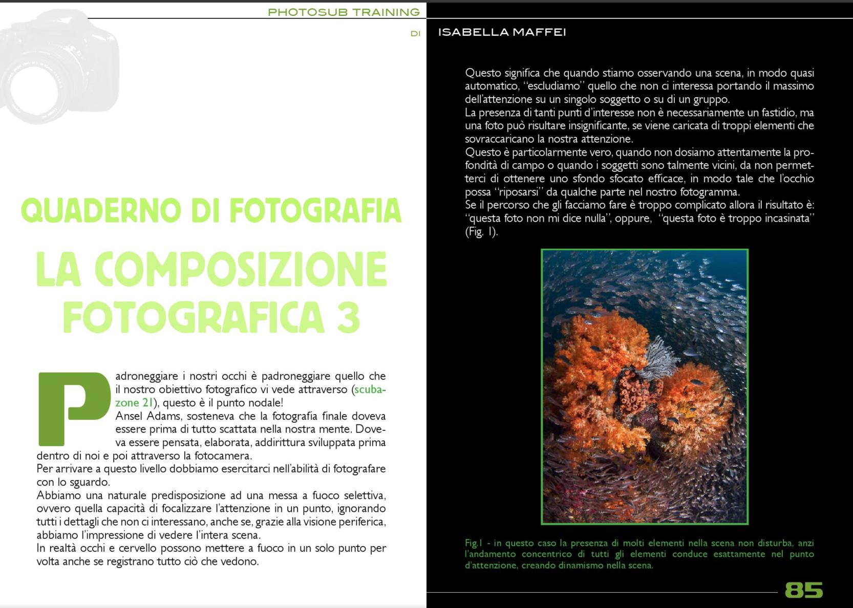 Photosub training by Isabella Maffei